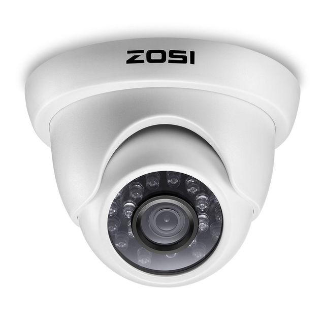 Zosi 1080p HD TVI 2.0mp cctv dome câmera, sistema de segurança para casa, visão noturna 65ft, à prova d água para 1080p HD TVI dvr sistemas