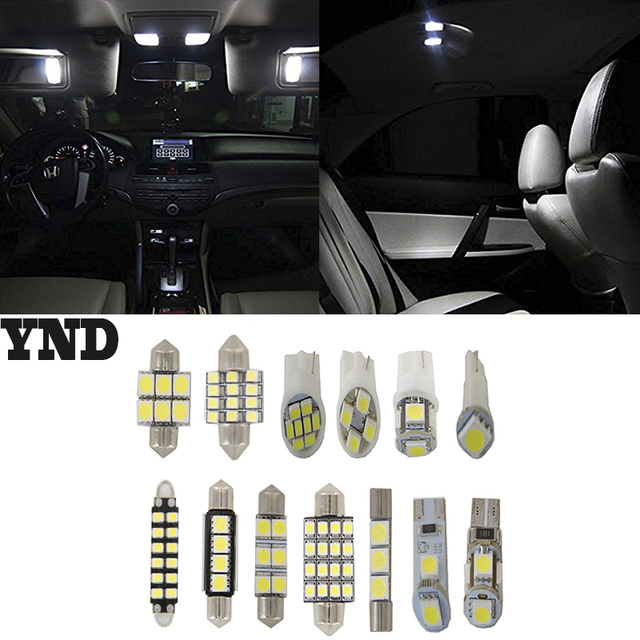 9pcs For 2003 04 05 06 2007 Infiniti G35 Coupe Lights 5050 Smd Full