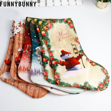 FUNNYBUNNY Christmas Gifts Snowman Elk Xmas Tree Hanging Gift Candy Beads  Santa Claus Socks Ornament Decorations