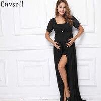 Envsoll妊娠ドレス妊婦マタニティ写真撮影小道具セクシーなシフォンウェディングマキシドレスガウン用写真撮影