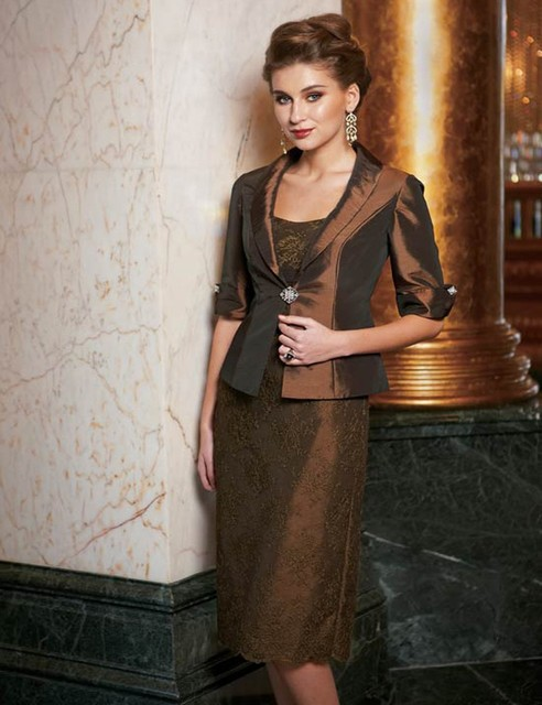 Mode Avondjurken.Moeder Van Bruid Jurk Met Jasje Kant Mode Avondjurken Custom Maken