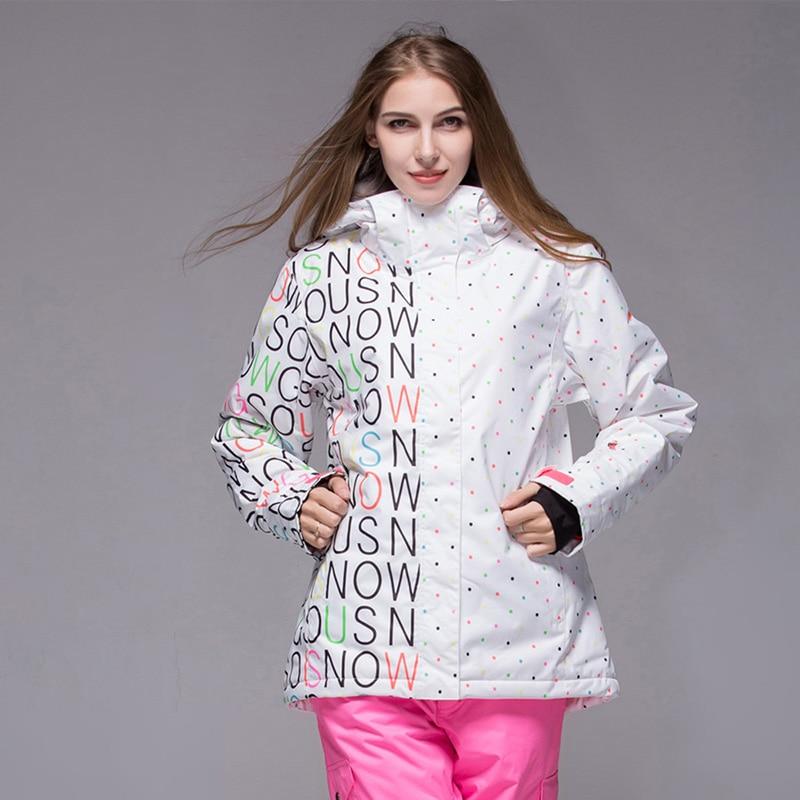 Combinaison de Ski imperméable veste de Snowboard Double femme chaud hiver extérieur-30 veste de Snowboard chaud femme taille livraison gratuite SML