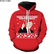 PLstar Cosmos Christmas Fashion 3D Hoodies Funny Trump print Women Men Hoodie casual Pullovers size S-5XL Drop shipping
