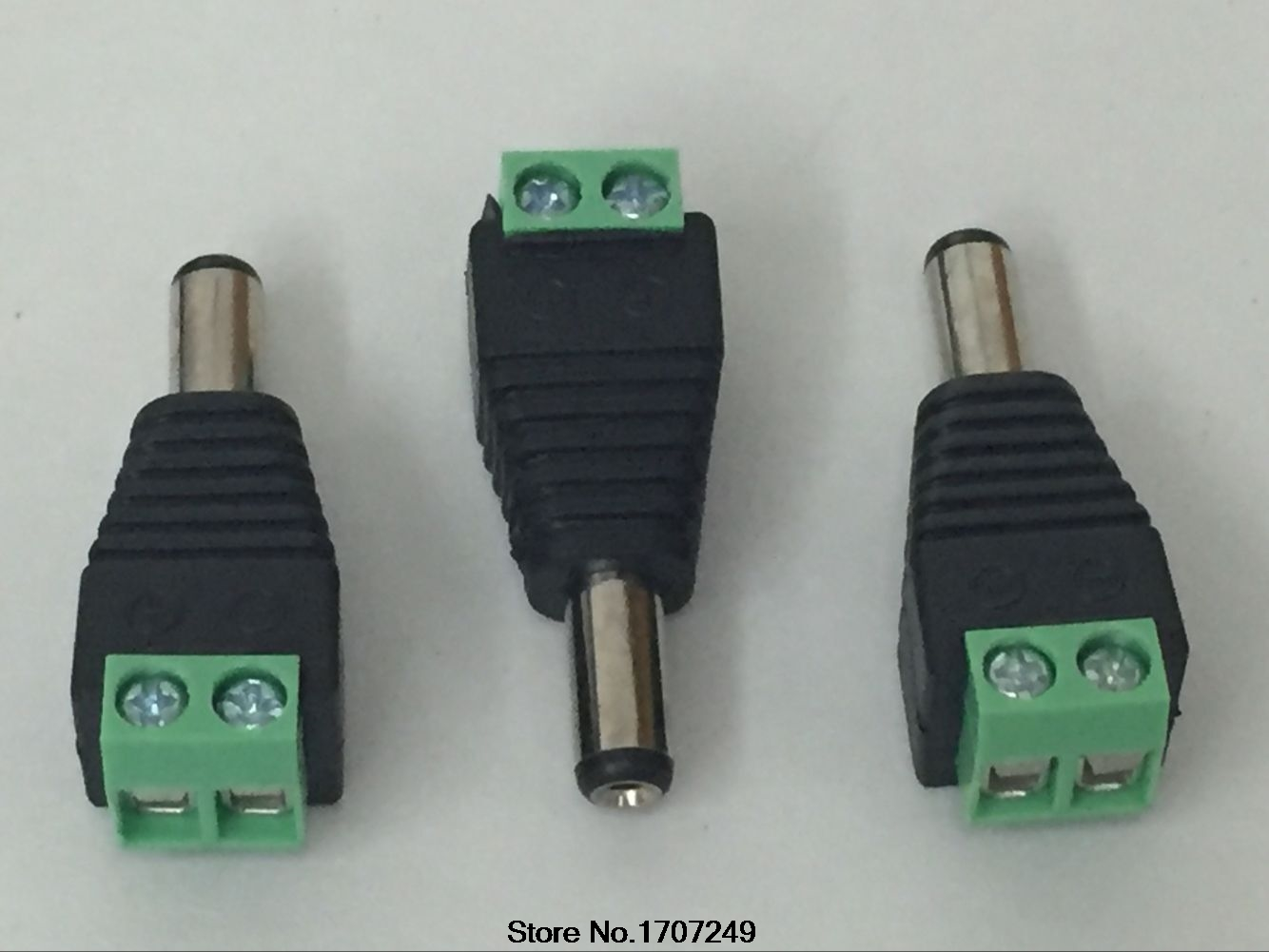 Free Shipping 10pcs/Lot 5.5mm x 2.1mm CCTV Male DC Jack DC Connector Power Plug for Security CCTV Camera System