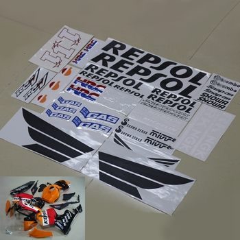 Motorcycle Fairing Kit Decals Sticker For Honda CBR600RR CBR1000RR REPSOL HRC RCV Complete Stickers Decal Accessory