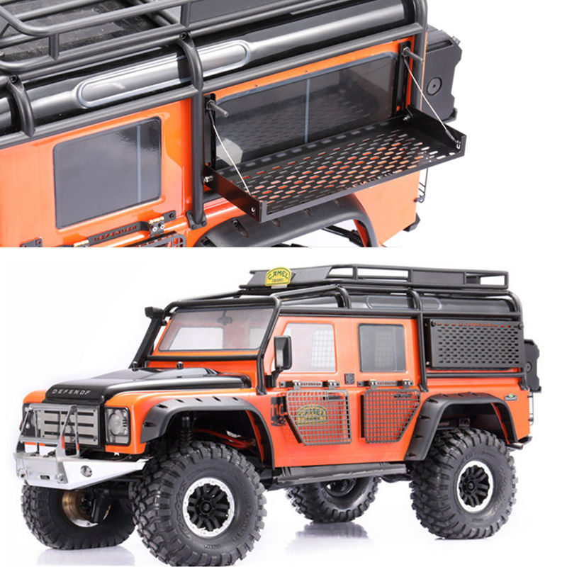 RC Metal Foldable Rear Window Network for 1/10 Traxxas TRX4 TRX 4 T4 D90 D110 RC Climbing Car Truck Parts