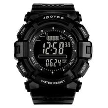 Spovan 2019 スポーツデジタル男の腕時計 2019 スマートバックライト黒腕時計防水軍事品質強力な Erkek Kol Saati
