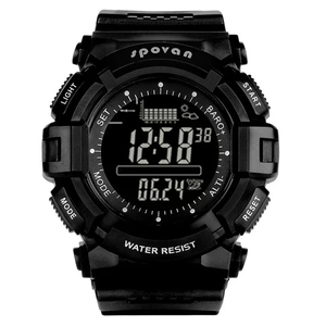 Image 1 - Spovan 2019 Sport Digital Mann Uhr 2019 Smart Zurück Licht Schwarz Armbanduhr Wasserdicht Military Qualität EINE Starke Erkek Kol Saati