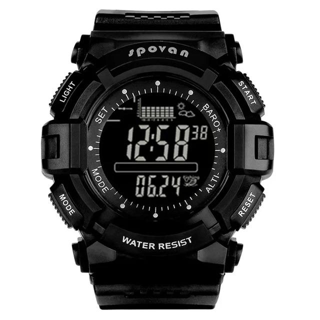 Spovan 2019 Sport Digital Mann Uhr 2019 Smart Zurück Licht Schwarz Armbanduhr Wasserdicht Military Qualität EINE Starke Erkek Kol Saati