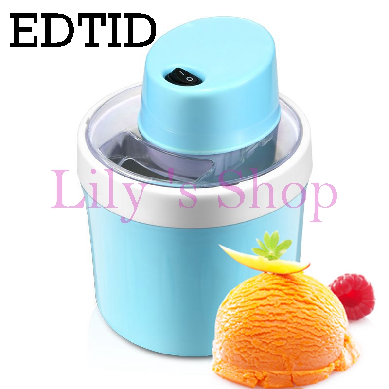 EDTID MINI DIY electric automatic soft ice cream machine household cool Fruit icecream maker household Frozen Dessert Maker 0.8L edtid portable automatic ice maker household bullet round ice make machine for family small bar coffee shop 220 240v 120w eu us