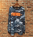 High Quality Mens Camouflage Vlone Friends Long Sleeve T Shirts Autumn Winter Cotton Hip Hop Camo Vlone Top Tee Shirt  Tshirt