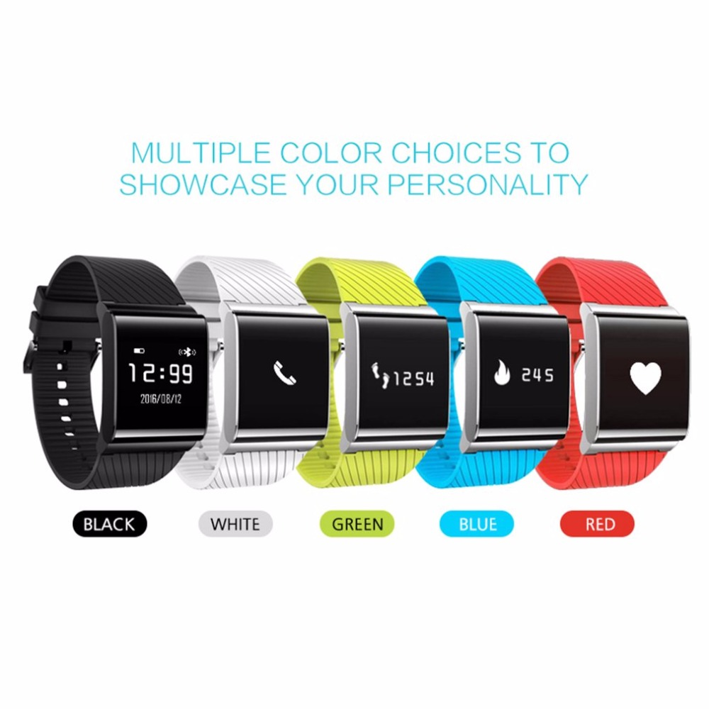 2017 Bluetooth 4.0 X9 Plus Smart Fitness Bracelet Smartwatch Wristband Blood Pressure Heart Rate Monitor Watches For Android ios x9 plus smart bracelet with silica gel red