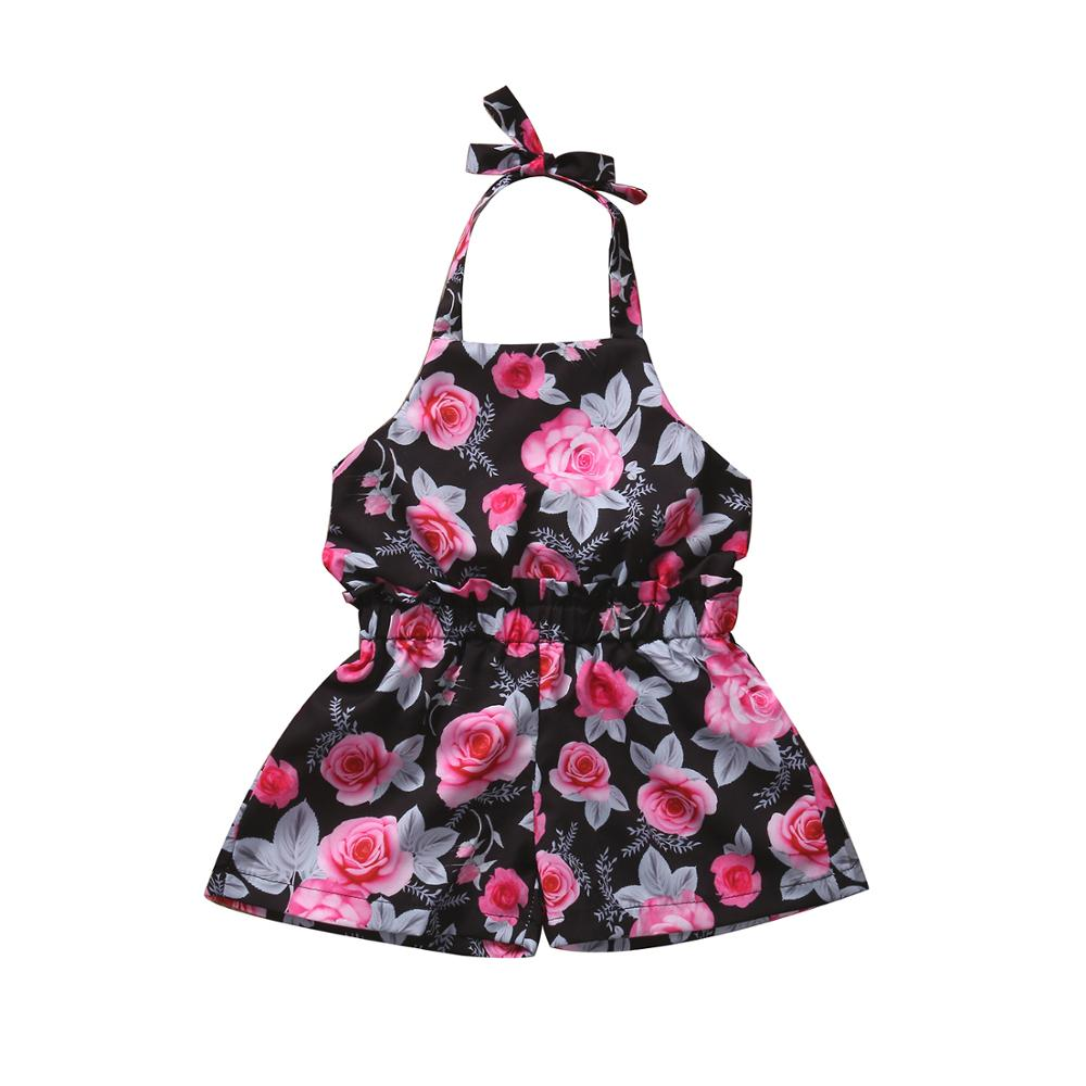 Toddler Newborn Baby Girl Clothing Floral Sleeveless Cute Romper Flower Jumpsuit Outfits Casual Clothes Baby Girls newborn toddler infant baby girls floral clothing zipper cute romper jumpsuit long sleeve outfit clothes