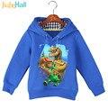 Jiuhehall Мода Динозавров Pattern Детские Кофты С Длинным Рукавом Сгущает детские Толстовки Хлопок Теплую Одежду GCM018