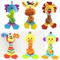 Chocalhos Brinquedos Infantis Brinquedos do bebê sino de Mão crianças brinquedos de Pelúcia Animais para crianças Recém-nascidas brinquedo bonito macio dos desenhos animados Do gato Do Cão TO108