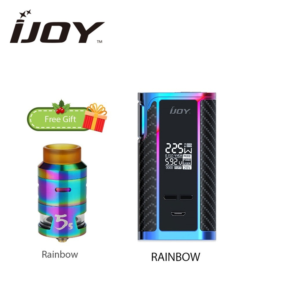все цены на Original IJOY Captain PD1865 225W TC Box Mod w/ Free Gift 2.6ml IJOY RDTA 5S Tank Atomizer Huge Power No 18650 Battery Vape Kit