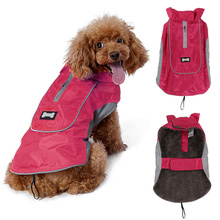 Winter Warm Dog Jacket Waterproof Polyester Pet Sport Clothes for Large Dogs Size M L XL Coat with Harness Hole Pets Supplies