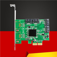 Add On Cards SATA Raid Card PCI Express 4 Ports HyperDuo SATA III RAID Controller Card Marvell 88SE9230 with Low Profile Bracket