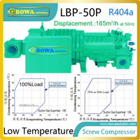50HP fridge screw compressor with large volume motor and part winding or direct start is integrated PTC sensors in each winding