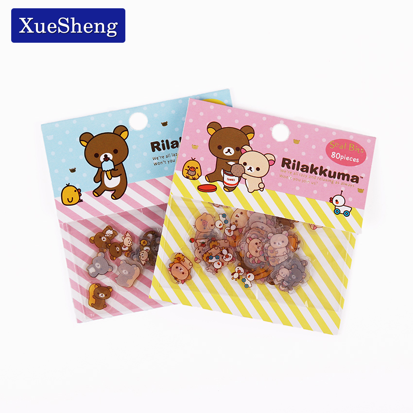 240 PCS/lot Rilakkuma Mini Paper Sticker Bag DIY Diary Planner Decoration Sticker Album Scrapbooking Kawaii Stationery Stickers 50 pcs bag santa claus christmas stickers paper sticker decoration diy scrapbooking sticker children s favorite stationery