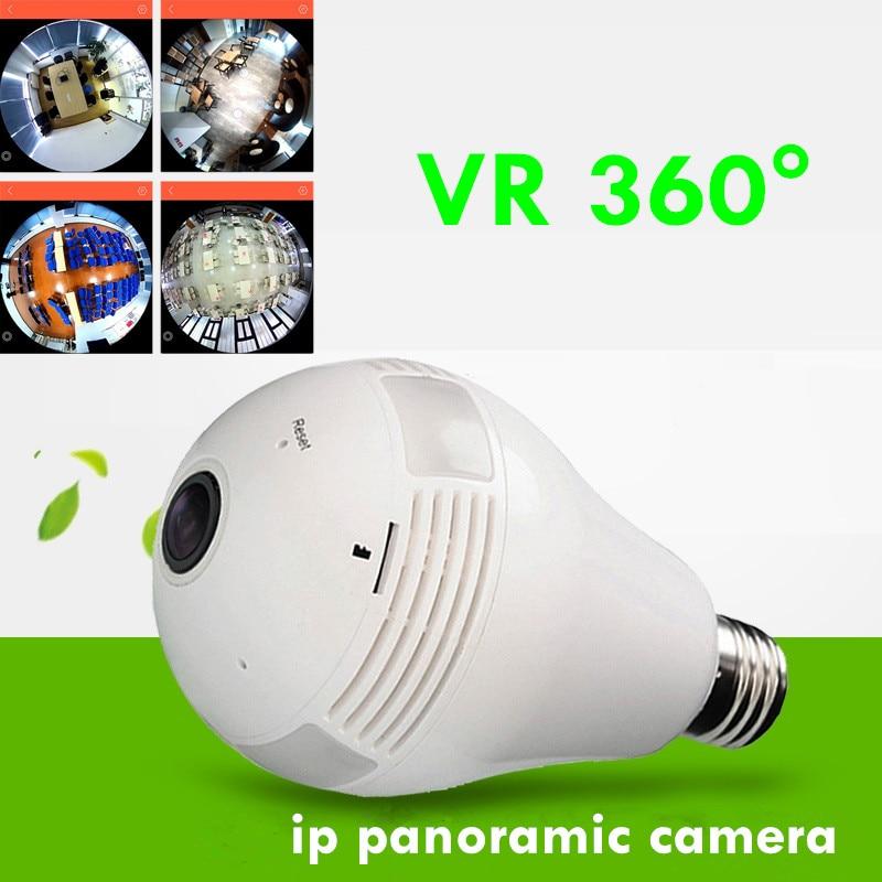 bulb camera 360 degrees ip camera HD VR 3D V380 software Fisheye Panoramic light bulb camera vr 360 degrees wifi3d fisheye panoramic light camera network led