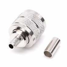 купить 10PCS UHF Male PL259 Plug Crimp RG58/142 LMR195 RG400 Screwed Coupling Connector онлайн
