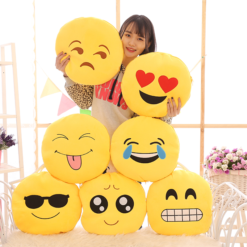 JannYU Creative Funny Evil QQ Expression Pack Pillow Cute Plush Toys Air Conditioner Blanket Pillow Doll Gift in Quilts from Home Garden