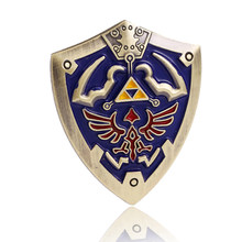 2 Warna Medali Logam The Legend Of Zelda Perisai Bros untuk Man Fashion Anime Jepang Lencana Christmas Blue Bros Hadiah perhiasan(China)