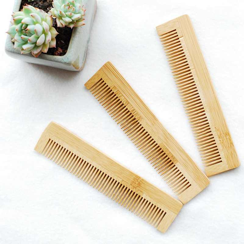 1 adet Yüksek Kaliteli Masaj ahşap tarak Bambu Saç Vent Fırça Fırçalar Saç Bakımı ve Güzellik spa masaj aleti Toptan