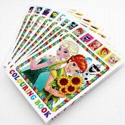 8 styl śnieg księżniczka dziewcząt kolorowanka książka na naklejki dla dzieci dzieci dorośli kolorowanki malarstwo rysunek story kolorowe sztuka książki| |   -