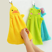 Cute Animal New Candy Colors Soft Coral Velvet Cartoon Animal Towel Can Be Hung Kitchen used(China)