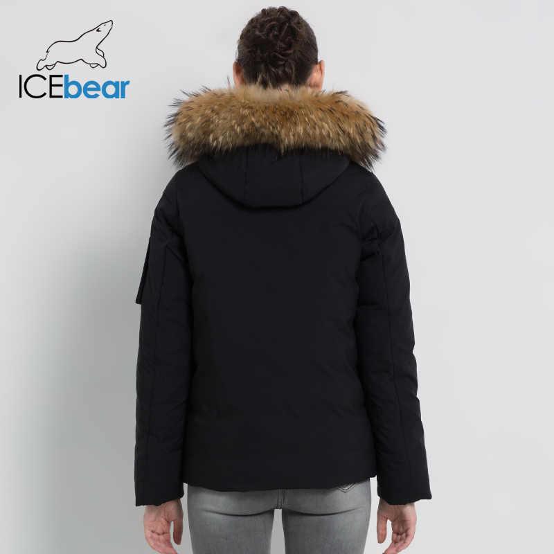 ICEbear 2019 nouveau hiver col de fourrure veste femme de haute qualité manteau chaud élégant femme Parkas marque vêtements GWD19062I