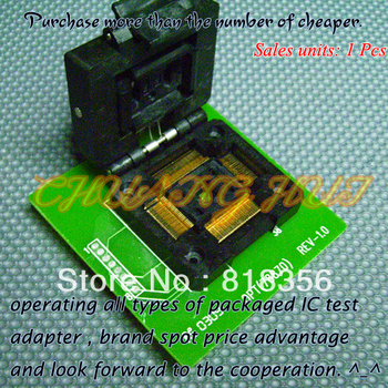OPT(78870) Programmer Adapter TQFP128 QFP128 IC51-1284-1433 Adapter/IC SOCKET/IC Test Socket 100% new ic51 0162 sop16 ic test socket programmer adapter burn in socket ic51 0162 271