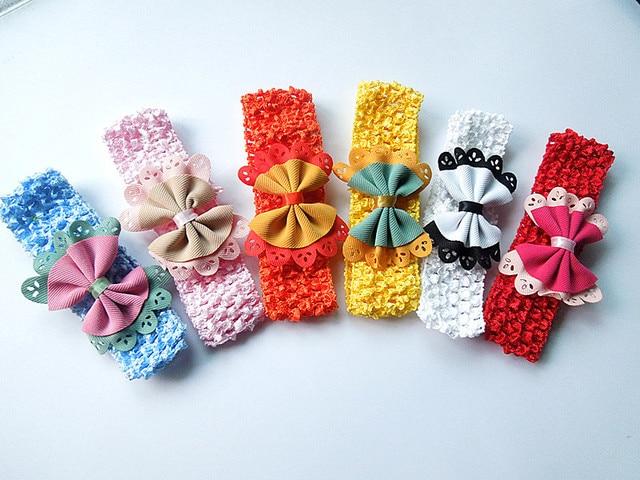 6 children infant girl headband flower hair elastic double bow headband free