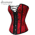 Hot Sale Red Court Waste Trainer Overbust Corselet Women Slim Sexy  Lingerie  Erotic Top Corsets Bodice Corsage Bustier Dress