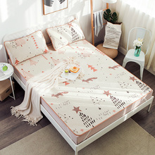 3 PCS Summer Cooling Bed Mattress With Pillowcase Gel For King Size Queen Bedspreads Covers Fitted Sheet Sets
