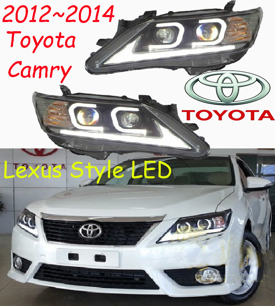Camry headlight,2012~2014,free ship! camry fog light,2ps/set+2pcs ballast,camry driver light,camry