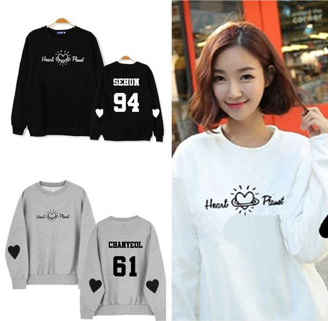 EXO Hoodies Winter Thick Men and women Round Neck Sweatershirt EXO-K Kpop  Clothes Fashion Women Brands Hoodie K-pop EXO K POP DO 3185c7bd6567