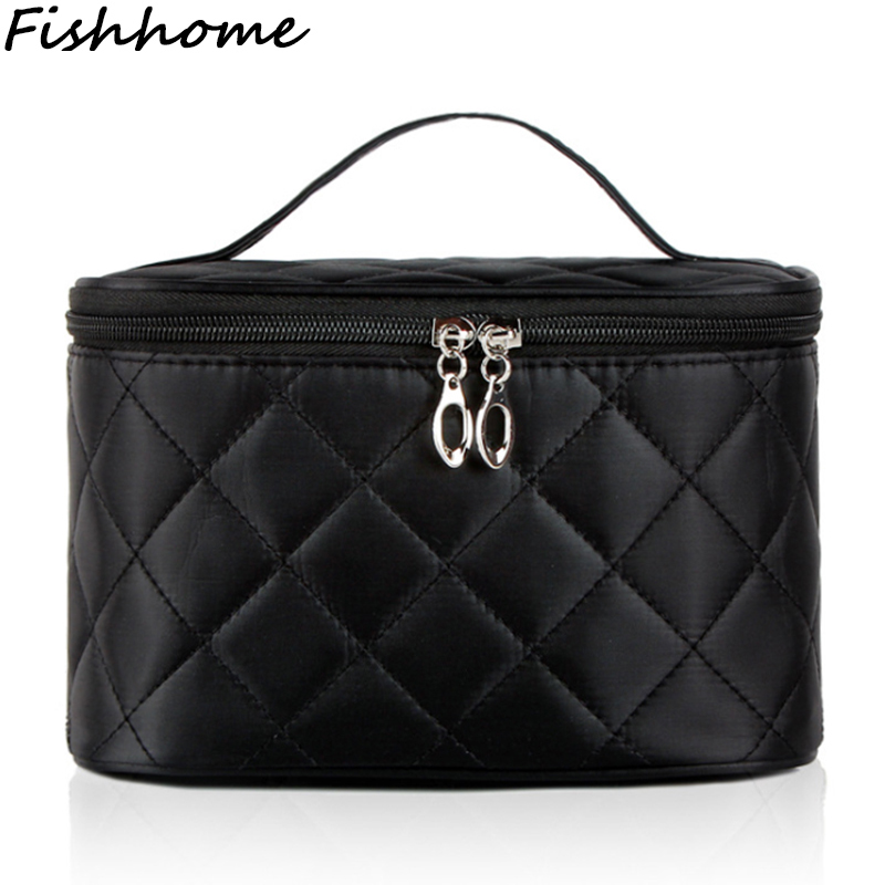 New Cosmetic Bag Women Necessary Quilted Professional Makeup Bag Large Capacity Storage Travel Organizer Toiletry Hand Bag LHF25