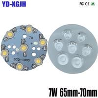 7W10P High power LED lamp beads aluminum plate aluminum plate with welding finished LED lamp beads,PCB 50mm DIY accessories lens