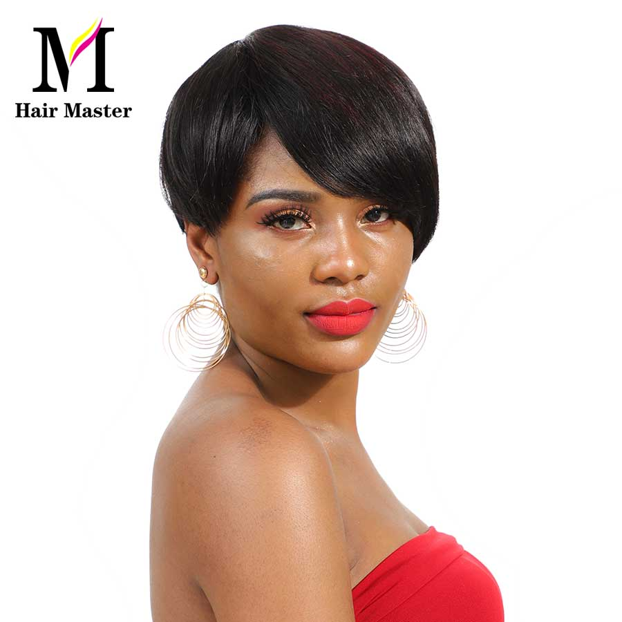 Hair Master SHort Brazilian Straight Hair Wig P1B/350 Color 100% Remy Human Hair Bob Wigs For Black Women Machine Made Wig