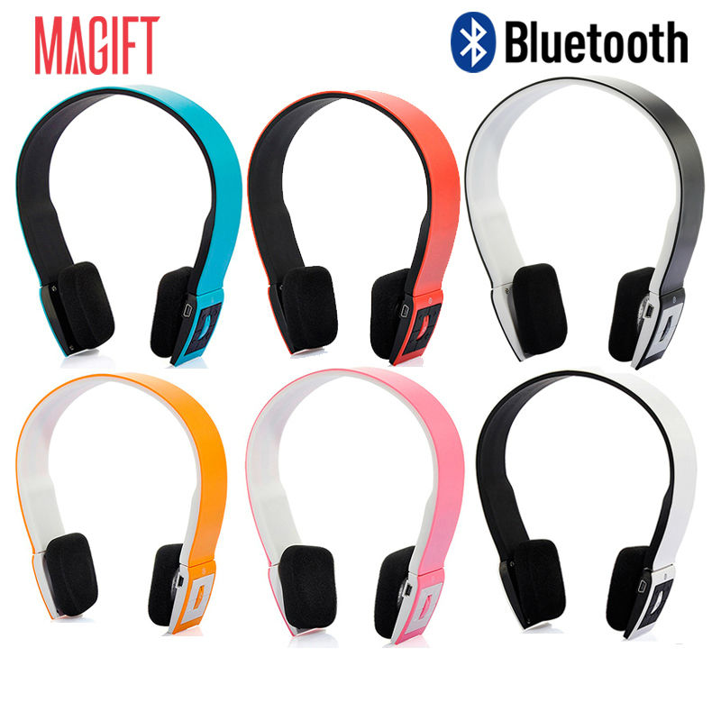ald02 bluetooth wireless adjustable headset soft wearing headphone with mic volume control for. Black Bedroom Furniture Sets. Home Design Ideas