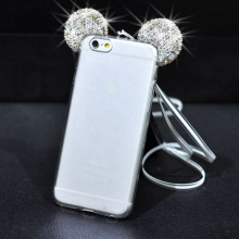 Bling Case For iPhone 5S 6 S 6S 7 8 Plus X XR XS MAX Luxury Glitter Mickey Mouse Ear Cover For Samsung Galaxy S7 Edge S9 S8 Plus