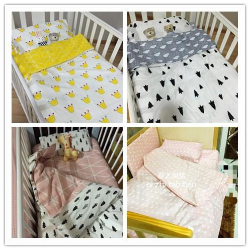 Promoção! 3 PCS 100% algodão conjunto de cama berço cama Set para meninos e meninas, Incluem ( capa de edredão / folha / fronha )