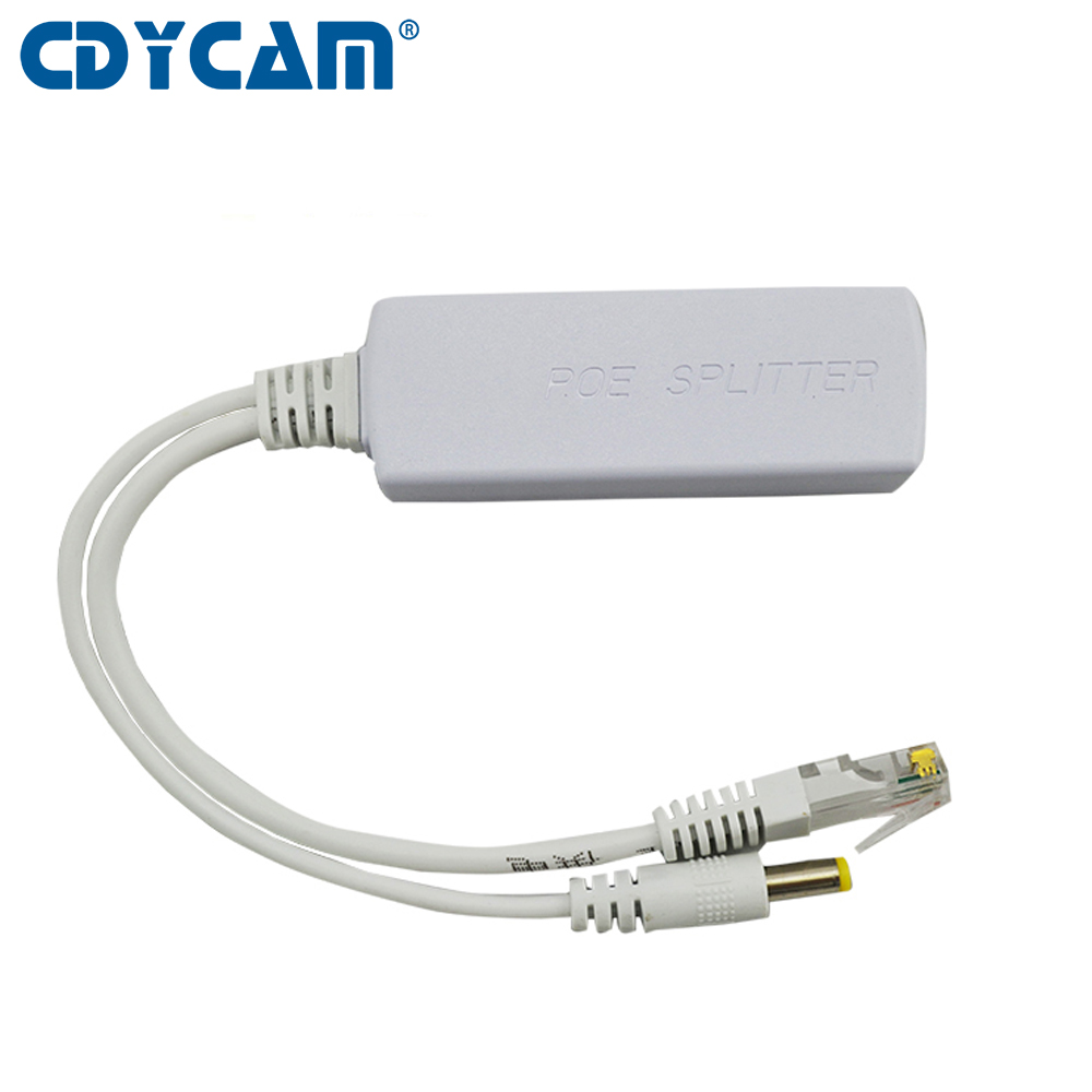 Cdycam POE Isolated separator Power Over Ethernet Splitter 48V Input and 12V Output 48V PoE Splitter Adapter 12V DC 5.5*2.1m cctv 4 port 10 100m poe net switch hub power over ethernet poe