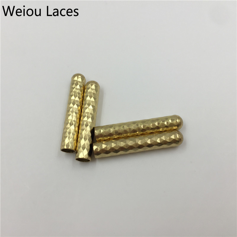 Weiou 4x22mm Close Mouth Type Shiny Shoelaces Metal Tips DIY Clothing Laces Head Fish Scale Pattern Metal Aglets Factory Direct 3pcs 4x22mm up