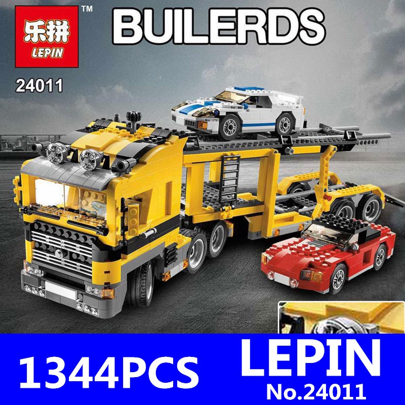 Technic Series LEPIN 24011 1344Pcs The Three in One Highway Transport Set Building Blocks Bricks Children Toys Model Gift 6753 compatible with lego technic creative lepin 24011 1344pcs 3 in 1 highway transport building blocks 6753 bricks toys for children