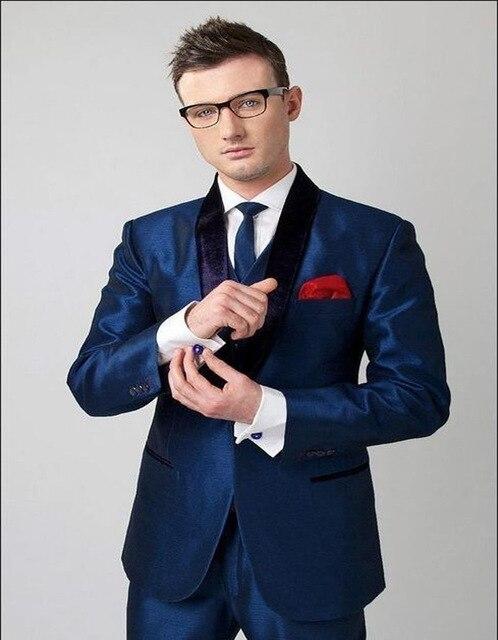 2018 Branded New Groomsmen Shawl Lapel Slim Fit Men Suit Three Pockets Groom Tuxedos Men Wedding Dress Suits Sets (Jacket+Pants