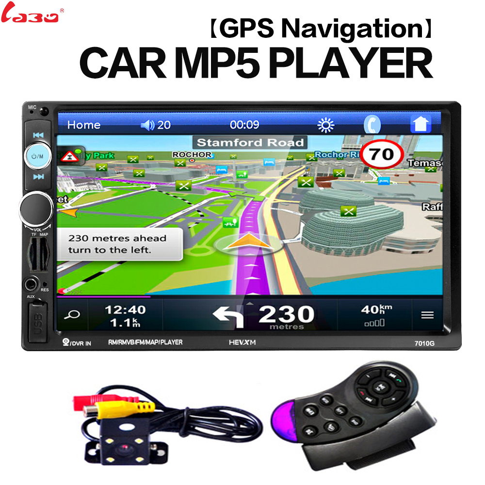 2 din 7 inch HD Car Radio GPS Navigation Player Rear View Camera <font><b>Autoradio</b></font> Bluetooth AUX MP4 MP5 Stereo FM Audio car accessories image