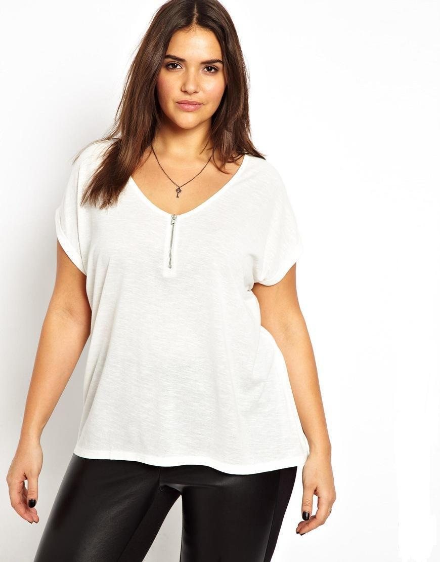 87f542b9e72 Ladies White Shirts Plus Size
